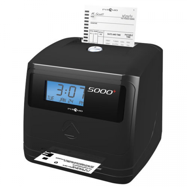 Pyramid 5000+ Automatic Totaling Time Clock Bundle