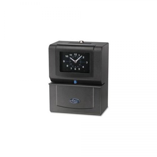 lathem automatic time clock day of week hours minutes charcoal lth4021 ...
