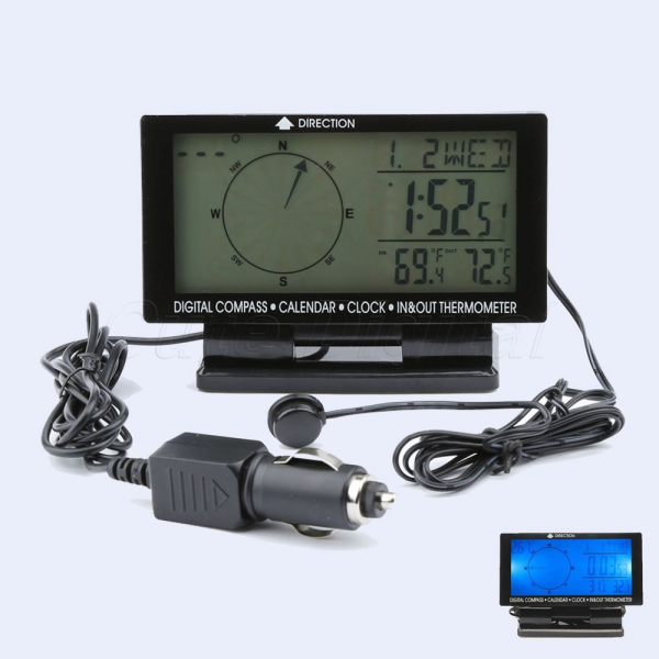 in 1 Car Auto Digital Compass with Time Clock Calendar in Outdoor ...