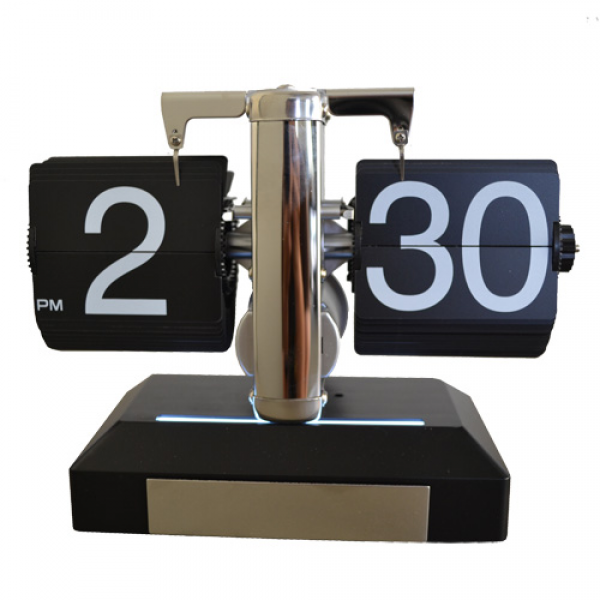 ... NEW! CONTEMPORARY RETRO FLIP CLOCK - DESK TIME CLOCK - LONDON MODERN