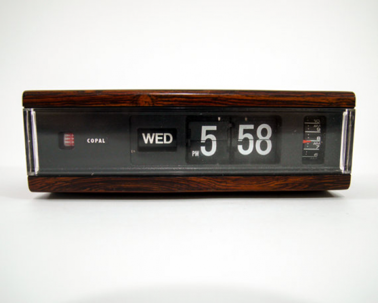 Modern Japanese Copal Analog Flip Alarm Clock model by verkitschen