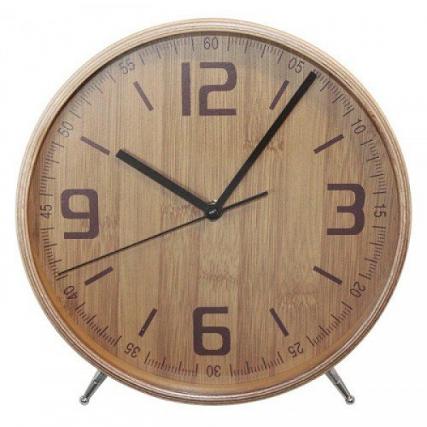 Wooden Mantel Clock Bamboo | 20cm wood standing mantle | Yellow ...