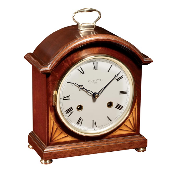 Mahogany Break Arch Mantel Clock Strike | Mantel & Desk Clocks ...