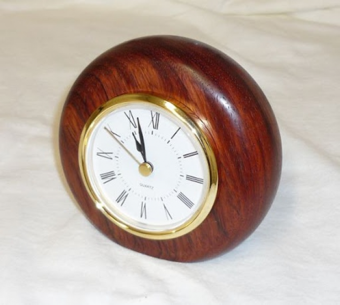 Mahogany Desk Clock | Cool Woodturning | Pinterest