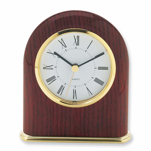 Mahogany Finish Classic Dome Desk Clock - Engravable Personalized Gift ...