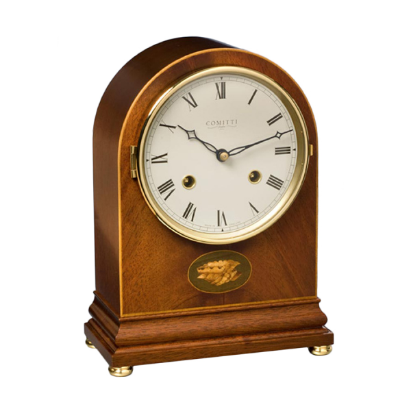 Inlaid Arch Mantel Clock Mahogany | Mantel & Desk Clocks | Clocks ...