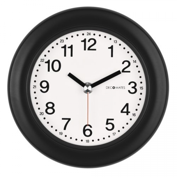 Best DecoMates Non-Ticking Silent Wall & Desk Clock - 24-Hour (Black ...
