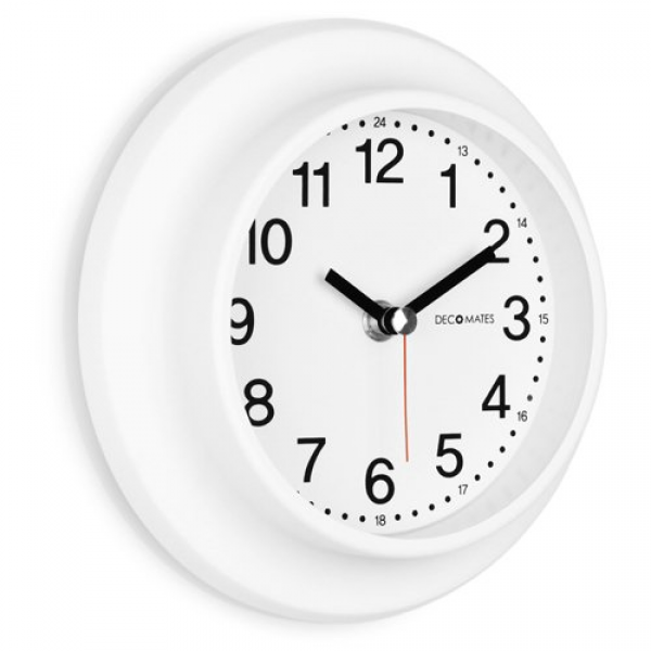 ... about DecoMates Non-Ticking 24-Hour Silent Wall and Desk Clock White