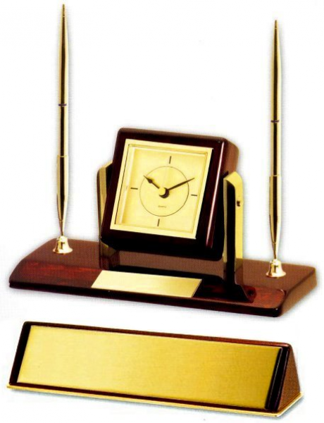 Mahogany & Gold Desk Set, gift boxed - free engraving - Desk Sets from ...