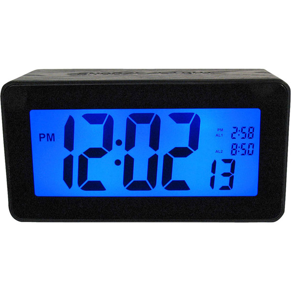 Advance Touch Activated Battery Operated Dual Alarm Clock New Free US ...