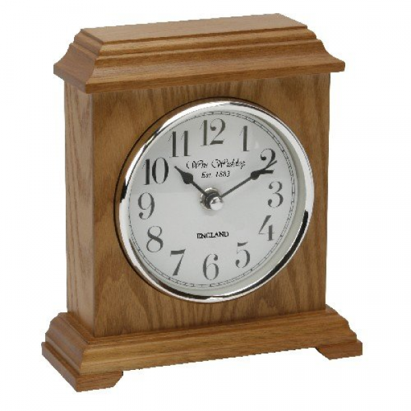 Home » Napoleon Oak Finish Wooden Mantel Clock Carriage Style - by ...