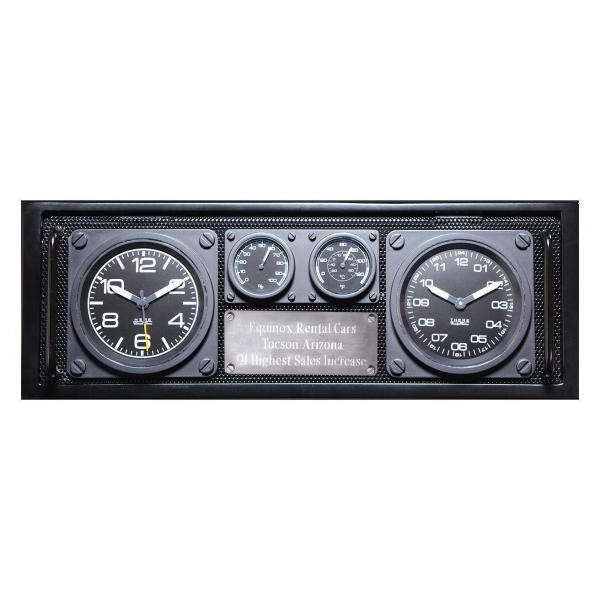 Dual Time Zone Clock/Caddy Product Photos,Aviator Dual Time Zone Clock ...