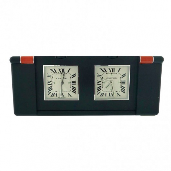 Home / Cartier Two Time Zone Travel Clock W0100035