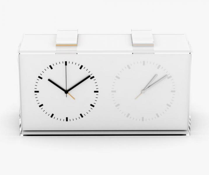 Home Away Dual-time Alarm Clock | INDESIGNLIVE