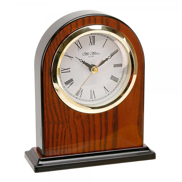 Arched Wooden Mantel Clock