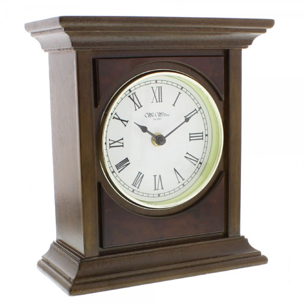 Wm Widdop Large Traditional Wooden Mantel Clock