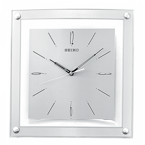 Square Floating Dial Wall Clock | Seiko Clocks