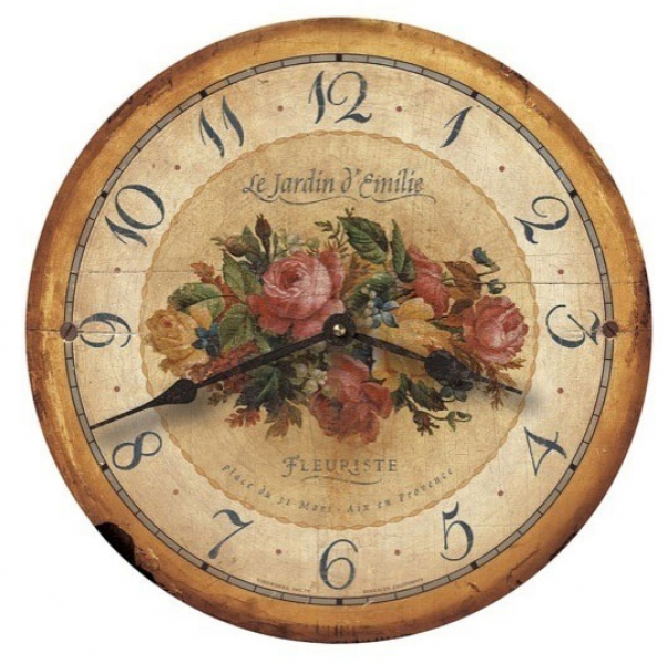 Emily's Garden Wall Clock by Floating Circus - Floating Circus
