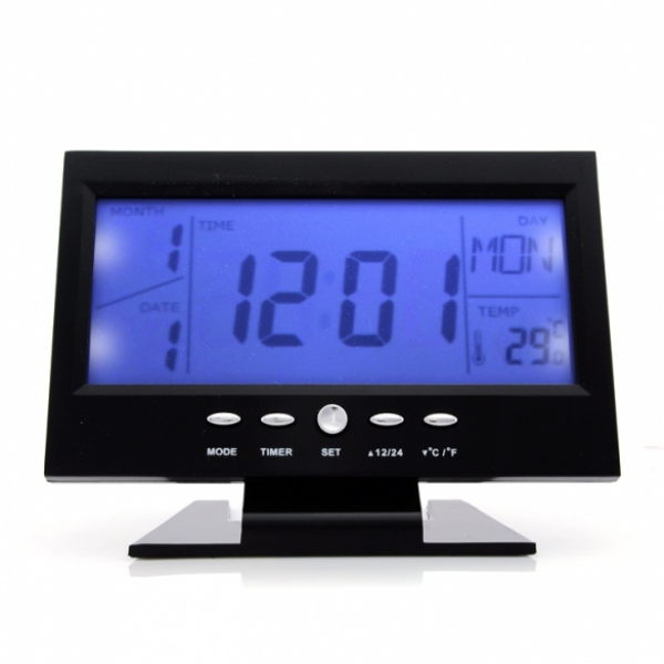 ... Modern Digital Alarm Clock LCD LED Backlight Snooze Large Digit Desk