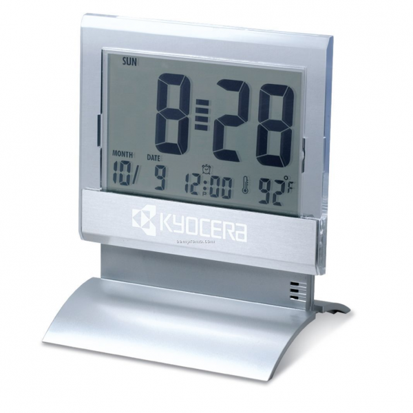 Large Display Digital Desk Clock W/ Alarm & Thermometer (3-1/2X4 ...