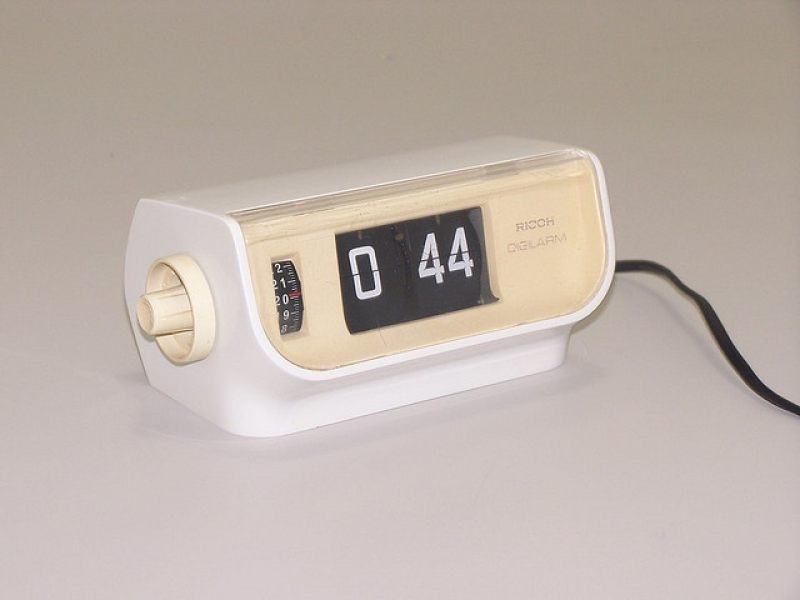 Ricoh flip electric table clock | Flickr - Photo Sharing!