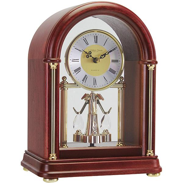 Classic Arch Top Rotating Pendulum Mantel Clock » Posh Clocks