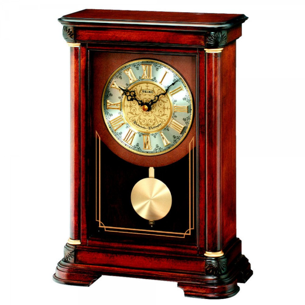 Clocks › Mantel Clocks › Seiko › Seiko Wooden Pendulum Mantel ...