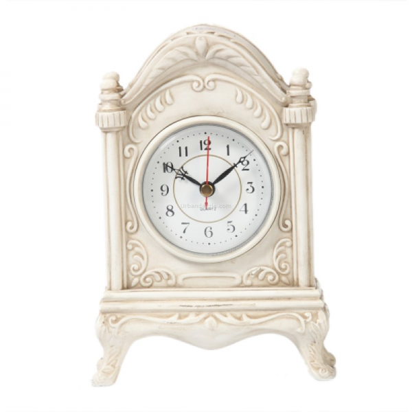 Buy Antique White Table Clock Online India: Wall Clock by Cotton Gift ...