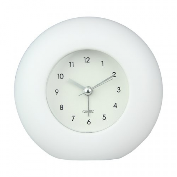 Round Table Clock, Pure White: Shopping Nexus: Electronics
