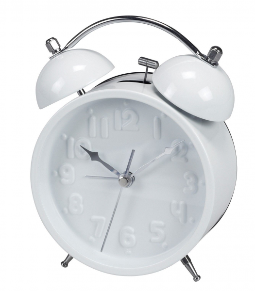 ... about Gorgeous Desk / Table All White Alarm Clock with White Numbers