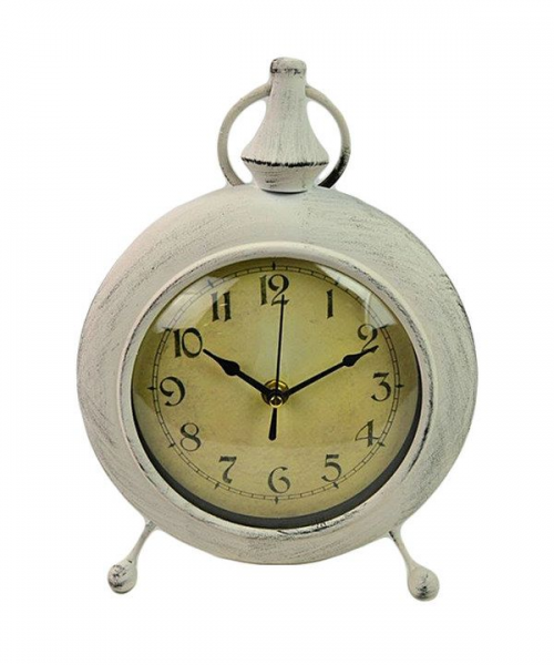 Loving this Antique White Table Clock on #zulily! #zulilyfinds