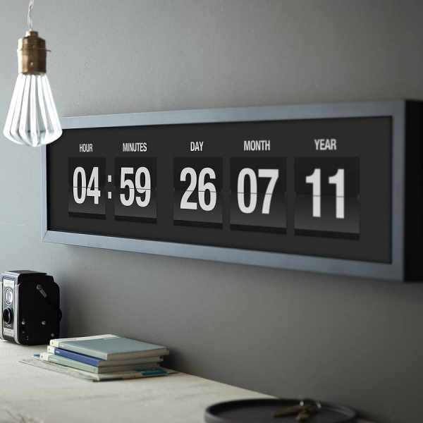 personalised vintage flip clock print by the drifting bear co ...