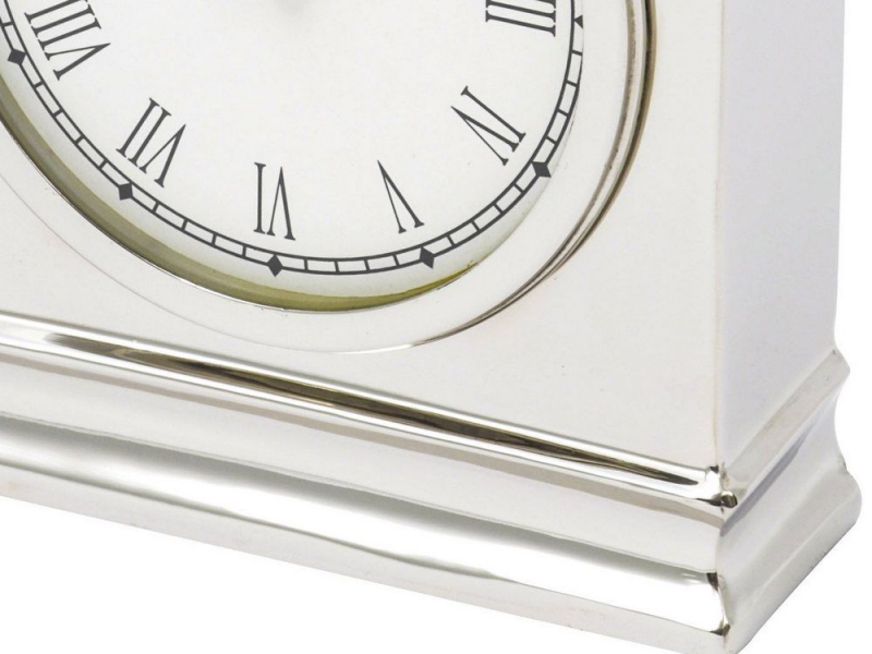 large silver table clock | large silver mantel clock | silver carriage ...