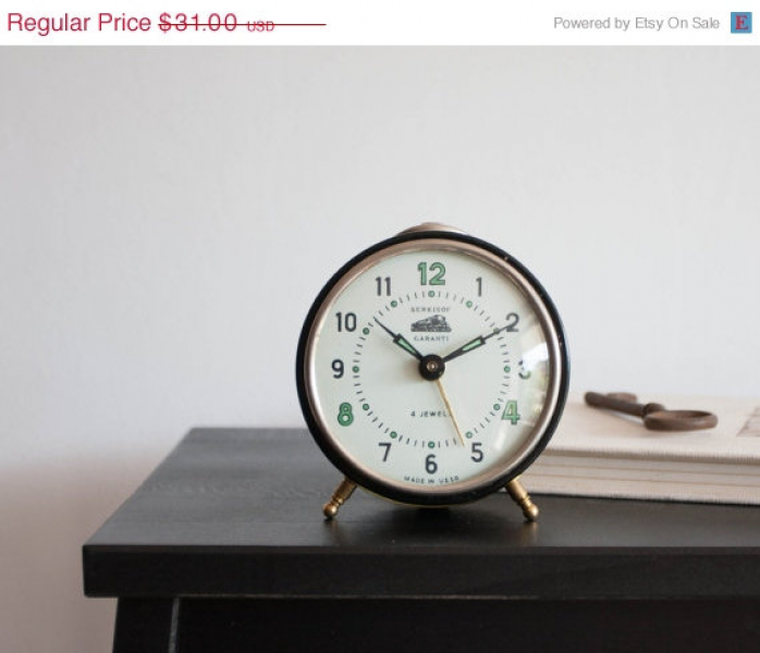 Wind Up Alarm Clock, Vityaz Soviet Desk Clock, USSR Vintage, Desk ...