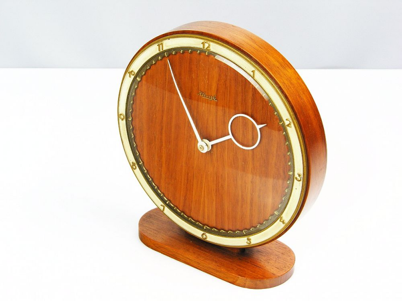 Beautiful Art Deco Bauhaus Wood Desk Clock Kienzle Heinrich Moeller ...