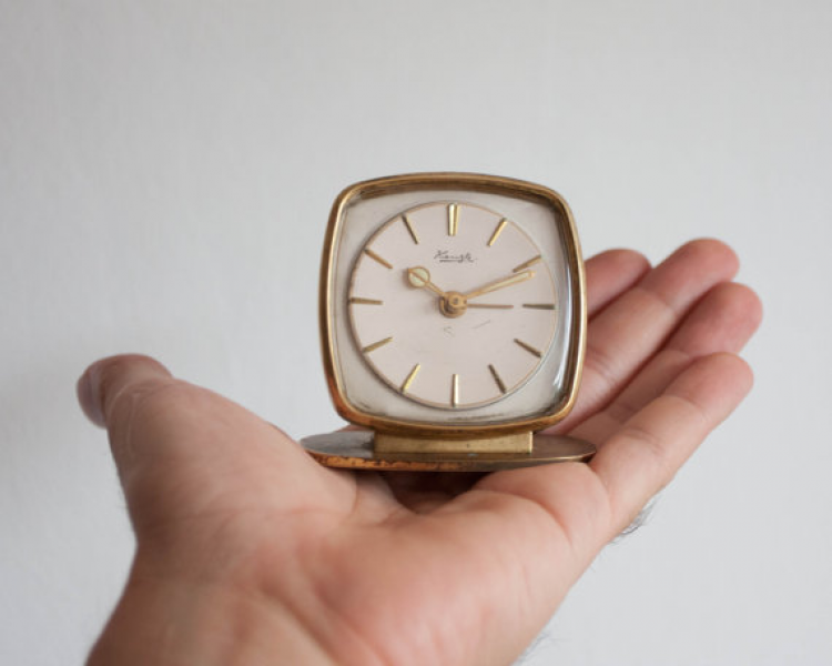 Mini Alarm Clock, Kienzle German Desk Clock, Retro Mechanical Clock ...