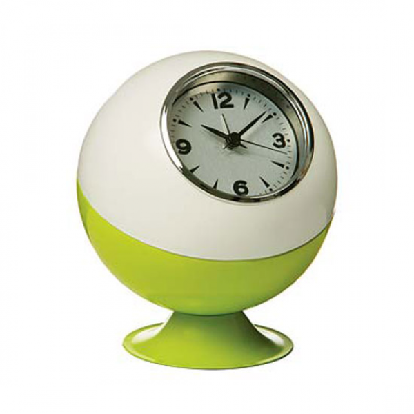 Retro Ball Table Clock in Lime Green & White - Buy Modern Wall Clock ...