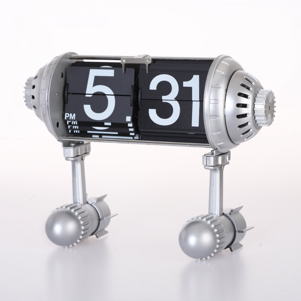 Maple's Clock FPB-33A Table Flip Clock with Rocket Legs | ATG Stores