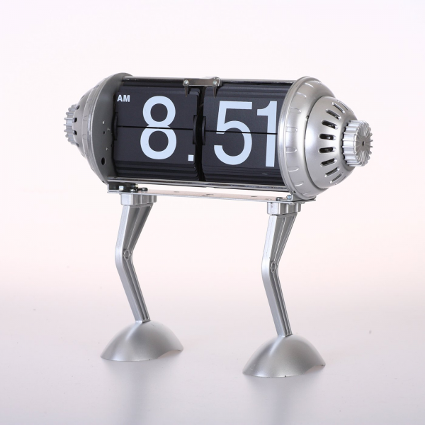 Maple's Clock FPB-33B Table Flip Clock with Robot Legs | ATG Stores