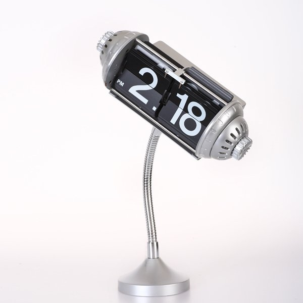Maple's Clock FPB-33D Table Flip Clock with Flexible Goose Neck Stand ...