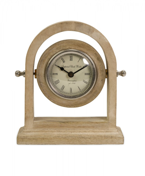 Buy IMAX Worldwide Mason Natural Wash Wood Desk Clock on sale online