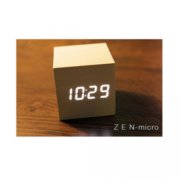 Zen Micro Table Alarm Wood Style Digital LED Clock Interior Decorating ...