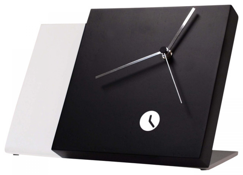 Tact Mixte Black/White Table Clock contemporary-desk-and-mantel-clocks