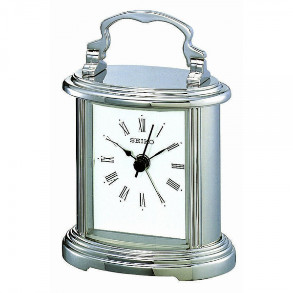 Mantel Clocks › Seiko › Seiko Silver tone boutique quartz mantel ...