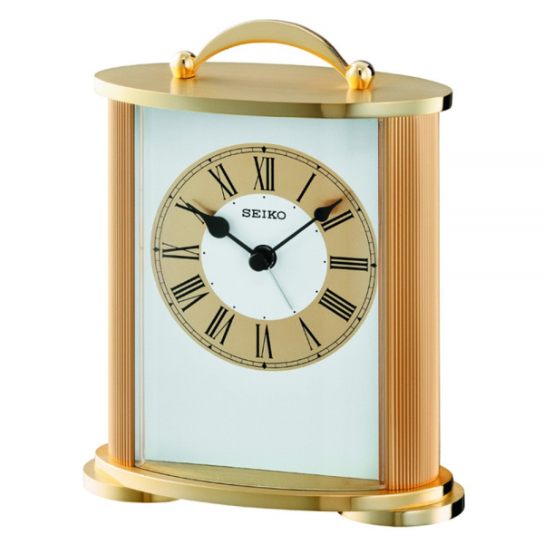 Seiko Quartz Mantel Clock - Gold Tone Case & Roman Dial - Seiko from ...