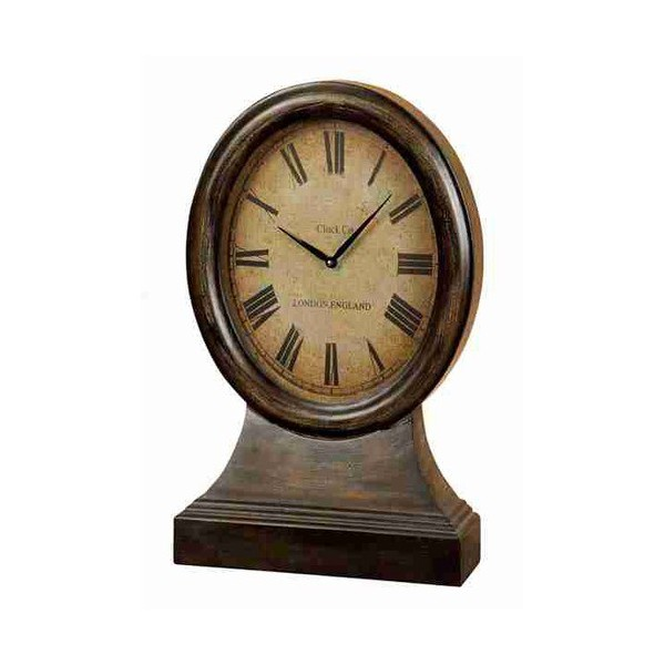 WOOD TABLE CLOCK LOOKS LIKE COORDINATING ANTIQUE TABLE DECOR