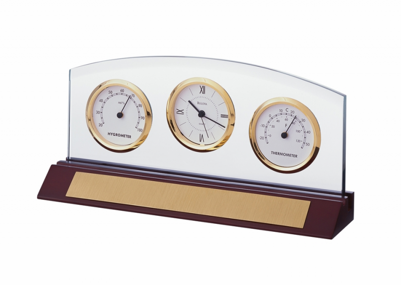 ... Gifts > Clocks > Weston Executive Collection Desk Clock by Bulova