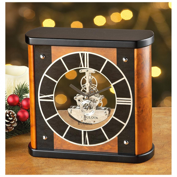 Bulova® Tabor Skeleton Mantel Clock - 228066, Clocks at Sportsman's ...
