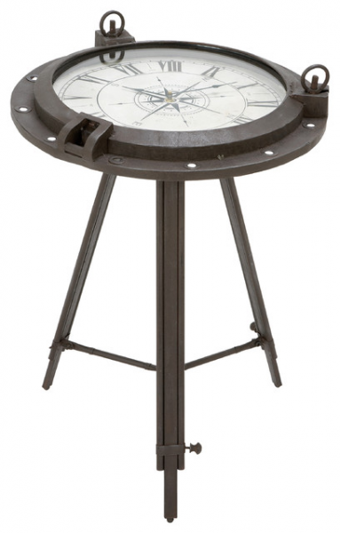 ... Industrial Metal Round Clock Coffee Table contemporary-coffee-tables