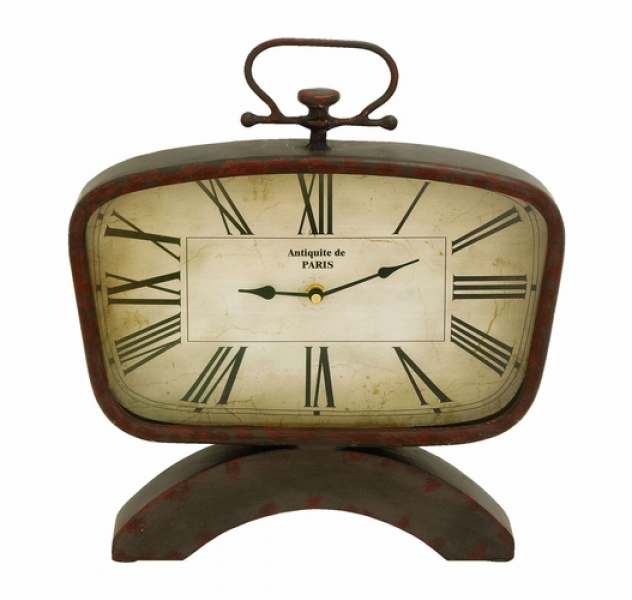 Home Decor Clocks Classic And Modern Table Top Clock In Steel Alloy ...